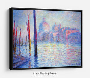 Canal Grand by Monet Floating Frame Canvas
