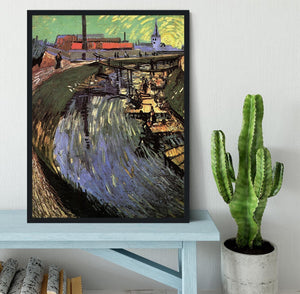 Canal with Women Washing by Van Gogh Framed Print - Canvas Art Rocks - 2