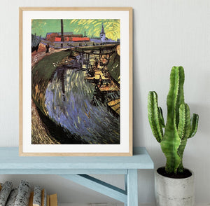 Canal with Women Washing by Van Gogh Framed Print - Canvas Art Rocks - 3