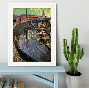Canal with Women Washing by Van Gogh Framed Print - Canvas Art Rocks - 5