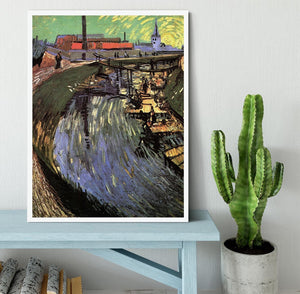 Canal with Women Washing by Van Gogh Framed Print - Canvas Art Rocks -6