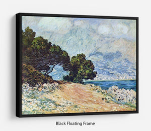 Cape Martin in Menton by Monet Floating Frame Canvas