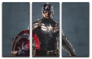 Captain America 3 Split Panel Canvas Print - Canvas Art Rocks