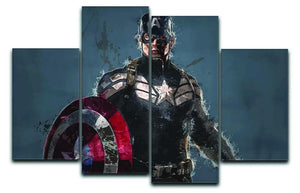 Captain America 4 Split Panel Canvas  - Canvas Art Rocks - 1