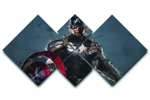 Captain America 4 Square Multi Panel Canvas  - Canvas Art Rocks - 1