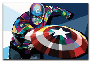 Captain America Print - Canvas Art Rocks - 1