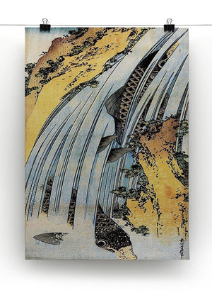 Carps ascending waterfall by Hokusai Canvas Print or Poster - Canvas Art Rocks - 2