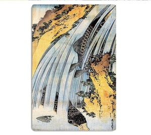 Carps ascending waterfall by Hokusai HD Metal Print