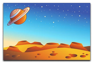 Cartoon red planet landscape Canvas Print or Poster  - Canvas Art Rocks - 1