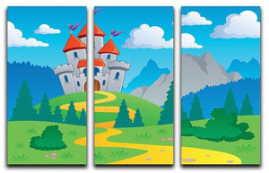 Castle theme landscap 3 Split Panel Canvas Print - Canvas Art Rocks - 1