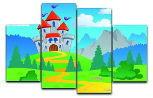 Castle theme landscap 4 Split Panel Canvas  - Canvas Art Rocks - 1