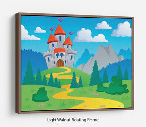 Castle theme landscap Floating Frame Canvas