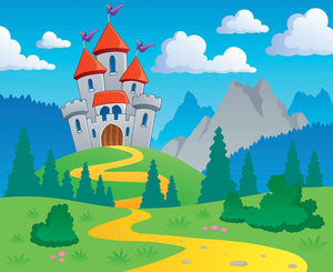 Castle theme landscap Wall Mural Wallpaper - Canvas Art Rocks - 1