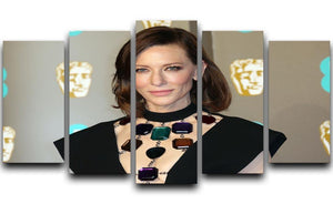 Cate Blanchett at the BAFTAs 5 Split Panel Canvas  - Canvas Art Rocks - 1