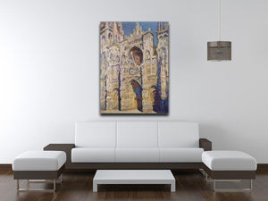 Cathedral at Rouen by Monet Canvas Print & Poster - Canvas Art Rocks - 4
