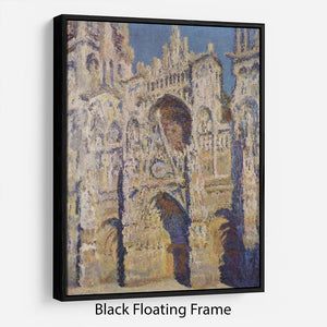 Cathedral at Rouen by Monet Floating Frame Canvas
