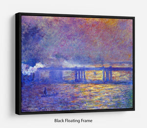 Charing cross bridge by Monet Floating Frame Canvas