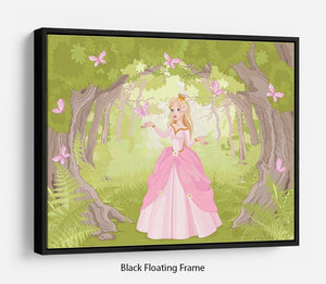 Charming princess a fantastic wood Floating Frame Canvas