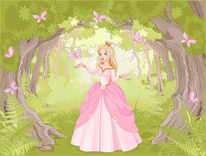 Charming princess a fantastic wood Wall Mural Wallpaper - Canvas Art Rocks - 1
