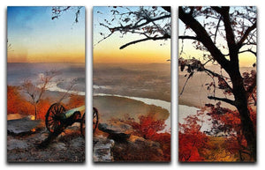 Chattanooga Campaign Painting 3 Split Panel Canvas Print - Canvas Art Rocks - 1