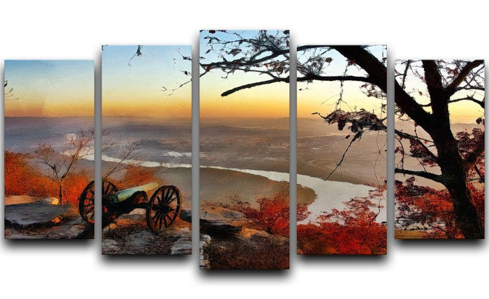 Chattanooga Campaign Painting 5 Split Panel Canvas