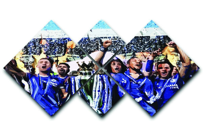Chelsea FC Premier League Winners 2017 4 Square Multi Panel Canvas