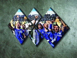 Chelsea FC Premier League Winners 2017 4 Square Multi Panel Canvas - Canvas Art Rocks - 2