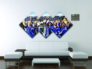 Chelsea FC Premier League Winners 2017 4 Square Multi Panel Canvas - Canvas Art Rocks - 3