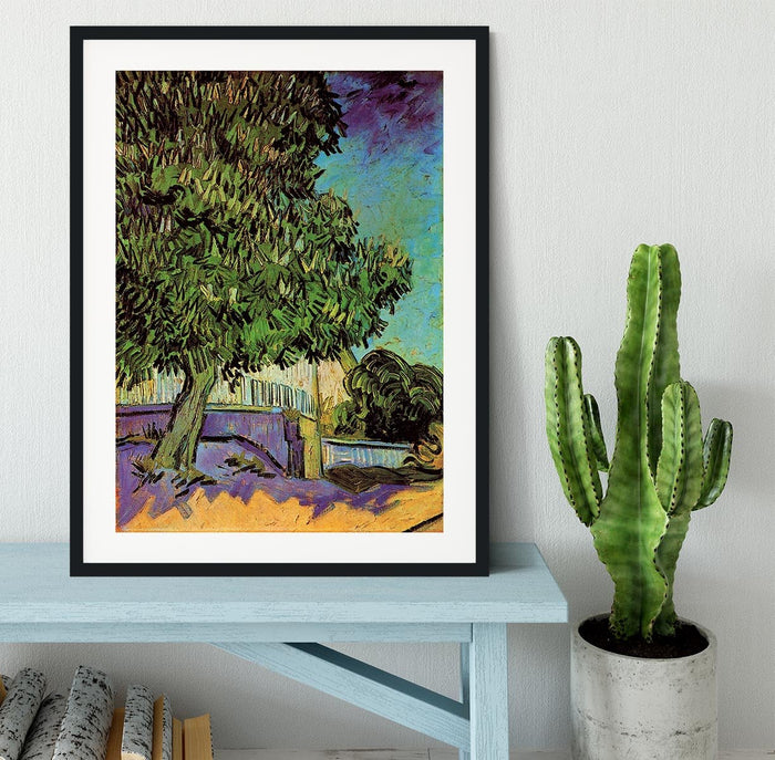 Chestnut Tree in Blossom by Van Gogh Framed Print