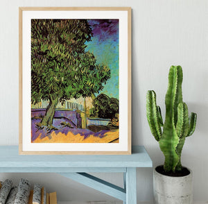 Chestnut Tree in Blossom by Van Gogh Framed Print - Canvas Art Rocks - 3