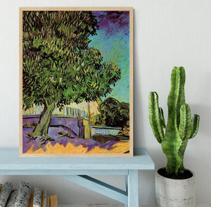 Chestnut Tree in Blossom by Van Gogh Framed Print - Canvas Art Rocks - 4