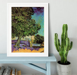Chestnut Tree in Blossom by Van Gogh Framed Print - Canvas Art Rocks - 5