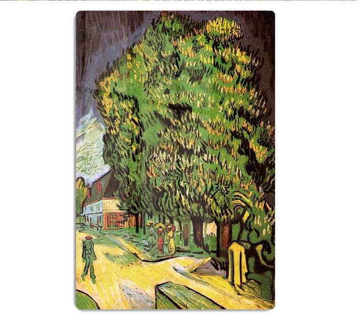 Chestnut Trees in Blossom by Van Gogh HD Metal Print