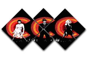 Chicago Movie 4 Square Multi Panel Canvas  - Canvas Art Rocks - 1