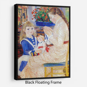 Children in the afternoon in Wargemont Detail by Renoir Floating Frame Canvas