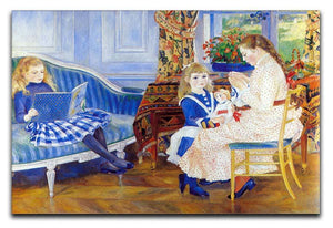Children in the afternoon in Wargemont by Renoir Canvas Print or Poster  - Canvas Art Rocks - 1