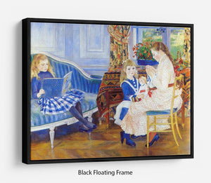 Children in the afternoon in Wargemont by Renoir Floating Frame Canvas