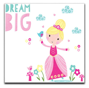 Children's Dream Big Princess Canvas Print - Canvas Art Rocks
