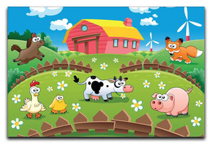 Children's Farm Yard Canvas Print & Poster - Canvas Art Rocks