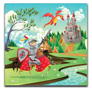 Children's Knight Canvas Print - Canvas Art Rocks