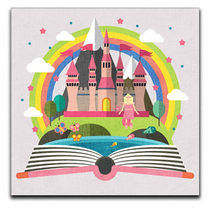Children's Princess Castle Canvas Print - Canvas Art Rocks