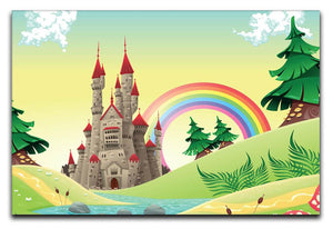 Children's Rainbow Castle Canvas Print & Poster - Canvas Art Rocks