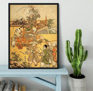 Chinese children by Hokusai Framed Print - Canvas Art Rocks - 2
