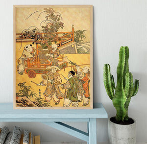 Chinese children by Hokusai Framed Print - Canvas Art Rocks - 4