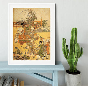 Chinese children by Hokusai Framed Print - Canvas Art Rocks - 5