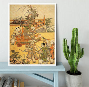Chinese children by Hokusai Framed Print - Canvas Art Rocks -6