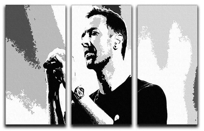 Chris Martin Pop Art 3 Split Panel Canvas Print