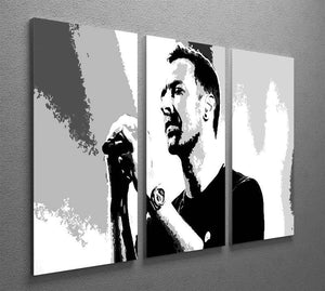 Chris Martin Pop Art 3 Split Panel Canvas Print - Canvas Art Rocks - 2