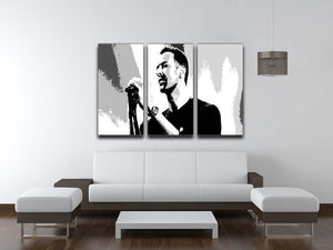 Chris Martin Pop Art 3 Split Panel Canvas Print - Canvas Art Rocks - 3