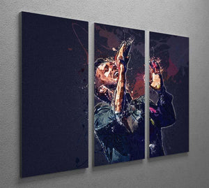 Chris Martin Splatter 3 Split Panel Canvas Print - Canvas Art Rocks - 2